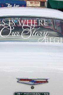 Wedding Getaway Car Decals This is Where Our Story Begins