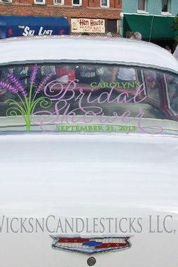 Bridal Shower Car Decals The Bridal Shower Storybook