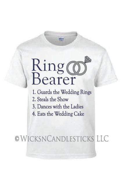 Ring Bearer Boy T Shirt -The Ring Bearer