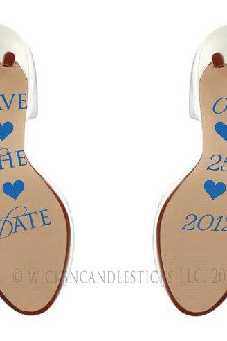 Save The Date Shoe Sticker Decals