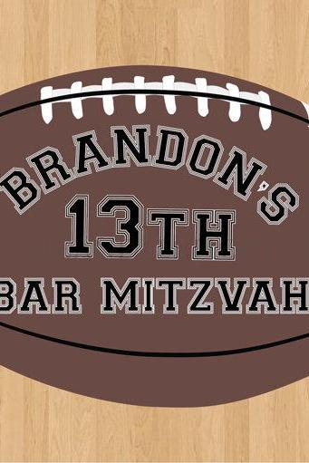 Event Decals Football Party Theme Bar Mitzvah