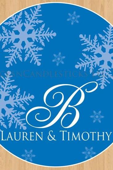 Wedding Dance Floor Decals Winter Wedding Snowflakes