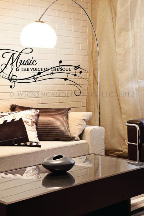 Inspirational Wall Decals-Music is the Voice of the Soul