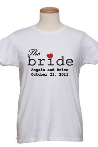 Bridal T-Shirts Announcing The Bride and The Groom