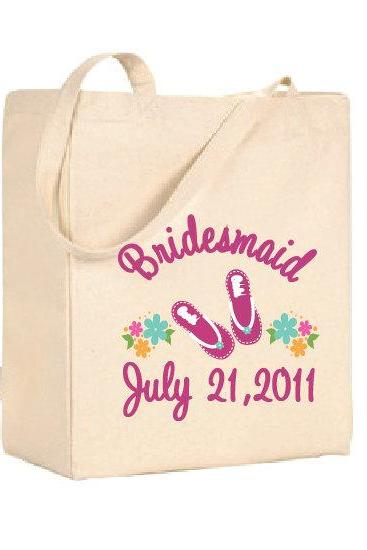 Customizable Bridal Party Tote Bags