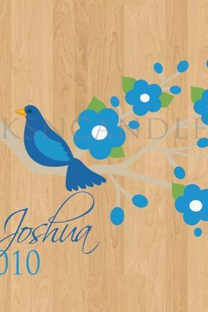 Wedding Dance Floor Decals Wild Blue Birds