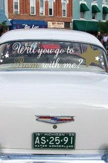 Prom Car Decals-Will You Go to Prom with Me