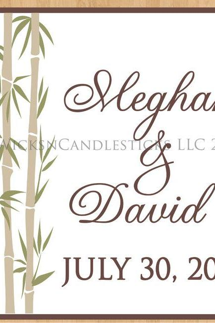Wedding Dance Floor Decals Elegant Bamboo