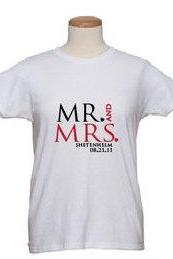 Bridal T Shirts Announcing The Mr. and Mrs.