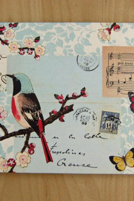 Wedding Guest Book, Birds and Butterflies