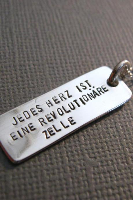 Quote Necklace, Inspirational Quote, Dog Tag Necklace, Personalized Necklace, Personalized Jewelry