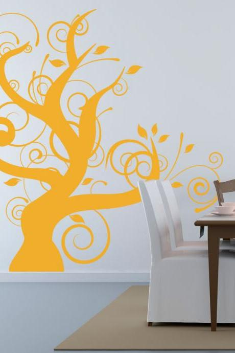 Thick Whimsical Tree Wall Decal- Vinyl Wall Art Decal Sticker