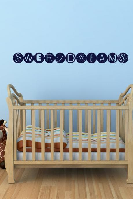 Sweet Dreams Wall Decal - Vinyl Wall Art Decal Sticker