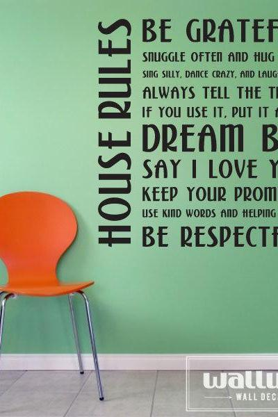 House Rules - Vinyl Wall Art Decal Sticker