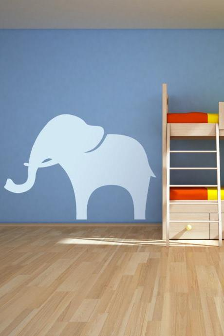 Mama and Baby Elephant Wall Decal - Vinyl Wall Art Decal Sticker