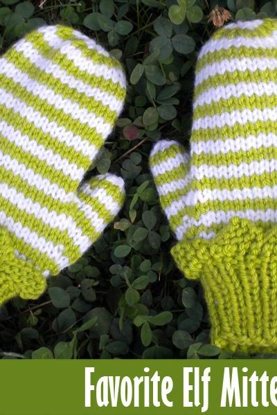 Favorite Elf Mittens Knitting Pattern