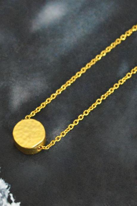 Coin necklace, Simple Necklace, Modern necklace, Girls necklace, Gold plated necklace/Bridesmaid gifts/Everyday jewelry/