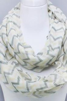 Infinity Chevron Scarf Yellow