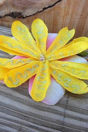 Flower Hair Accessory - Multi Flower Hair Piece - Bobby Pin Hair Accessory - Glow in the Dark