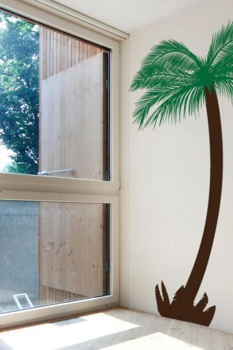 Feather Palm Tree Wall Decal