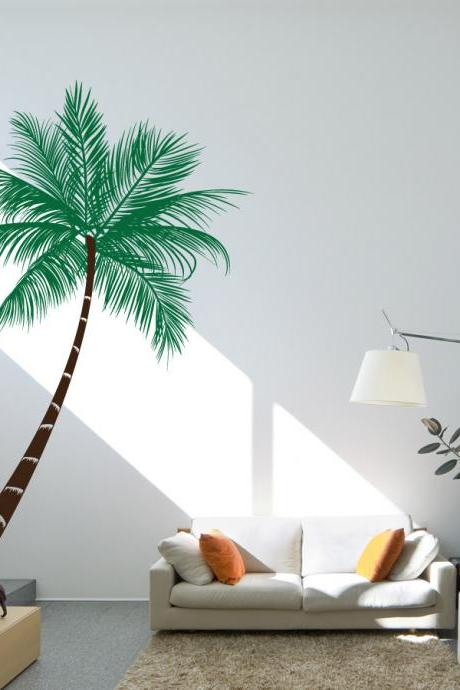 Queen Palm Tree Wall Decal