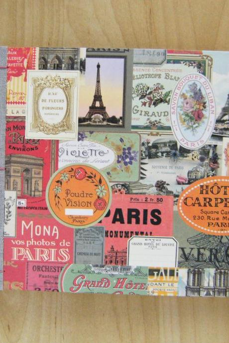 Wedding Guest Book, Honeymoon in Paris, Travel Theme Handbound Book