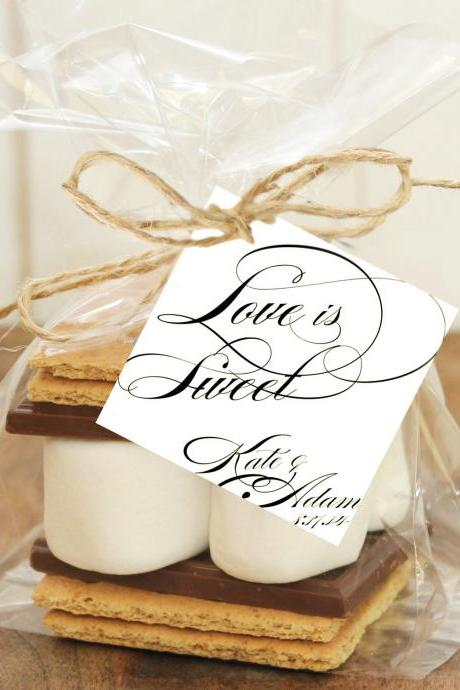 Wedding Favor Gift Tag - printable diy CUSTOMIZED