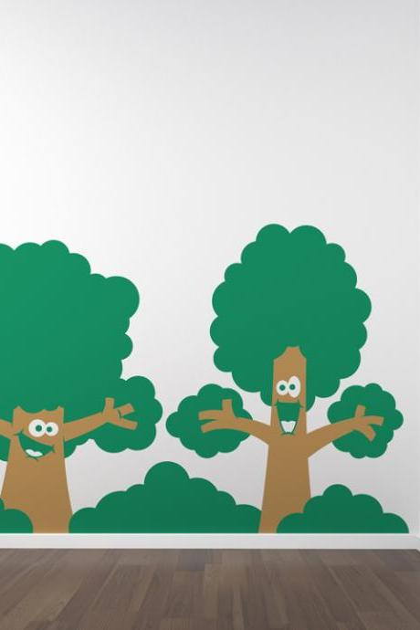 Happy Trees Wall Decal