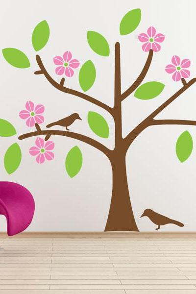 Pink Blossom Tree Wall Decal