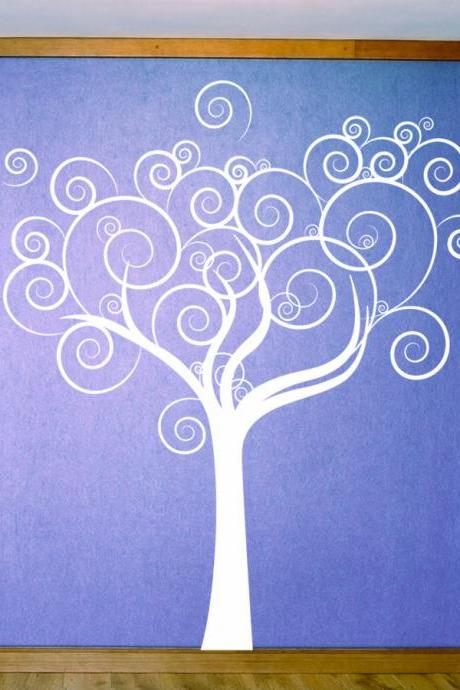 Whimsical Love Tree Wall Decal