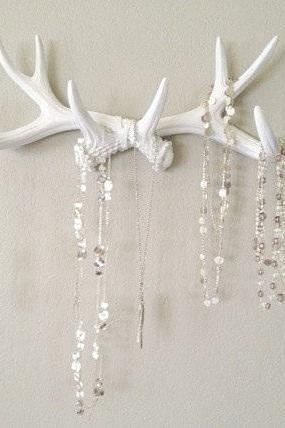 Faux Deer Antlers Wall Decor• Jewerly Rack