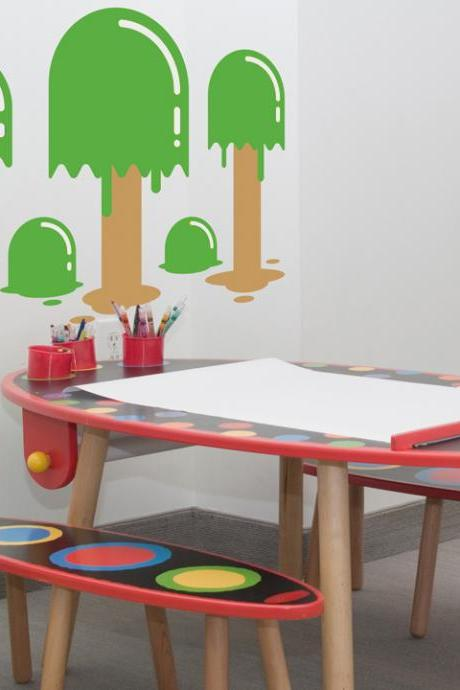 Popsicle Trees Wall Decal