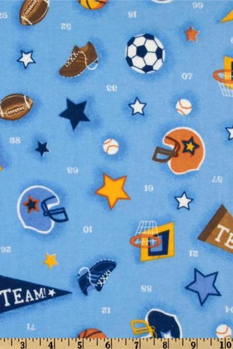 Baby Boy Blue Sports Fitted Crib Sheet