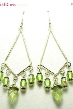 ON SALE Lemon Lime Chandelier Dangle Earrings