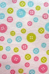 Baby Buttons Fitted Crib Sheet