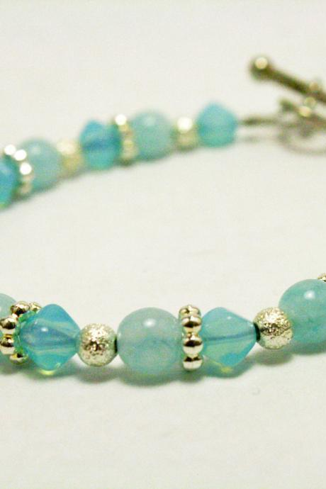 CLEARANCE Blue and Silver Bracelet