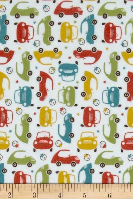 Baby Boy Cars Fitted Crib Sheet