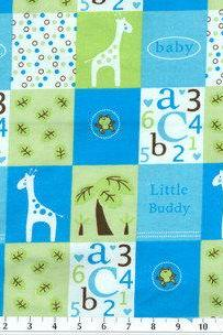Baby Boy Blue and Green Fitted Crib Sheet