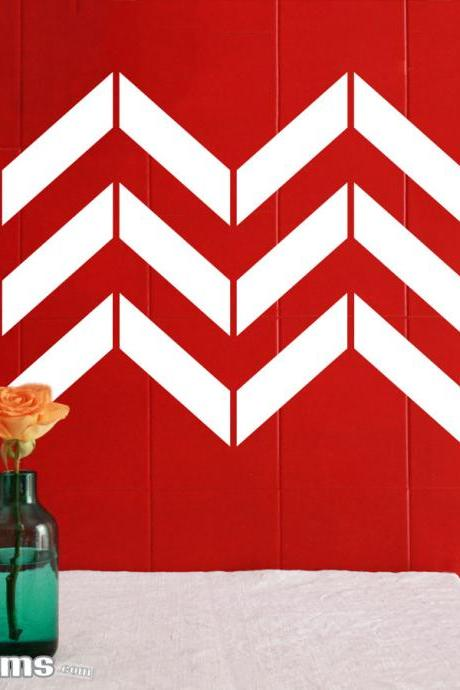 Chevron Stripes Wall Art Decal