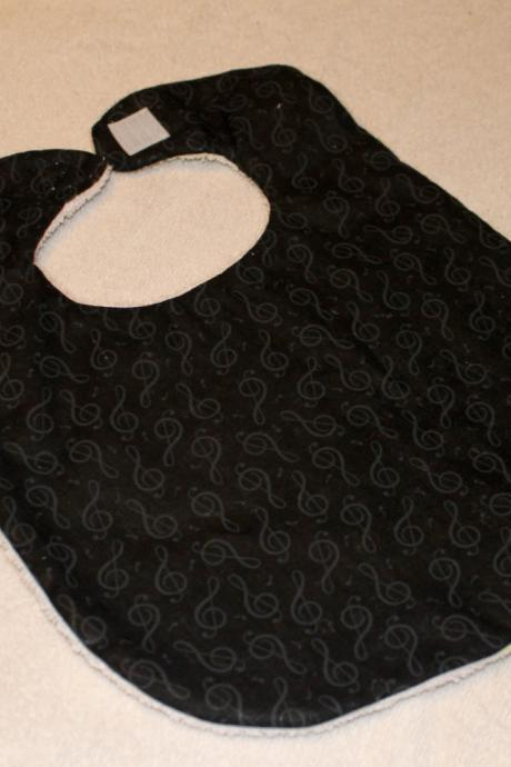 Black Musical Note Bib