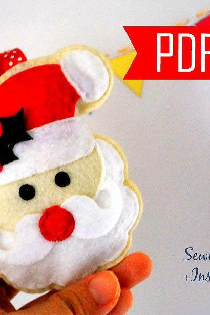 DIY Santa Claus Sewing pattern - PDF ePATTERN , Christmas Ornament MariaPalito Instant Download A871