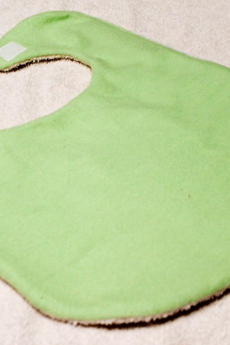 Light Green Flannel Baby Bib