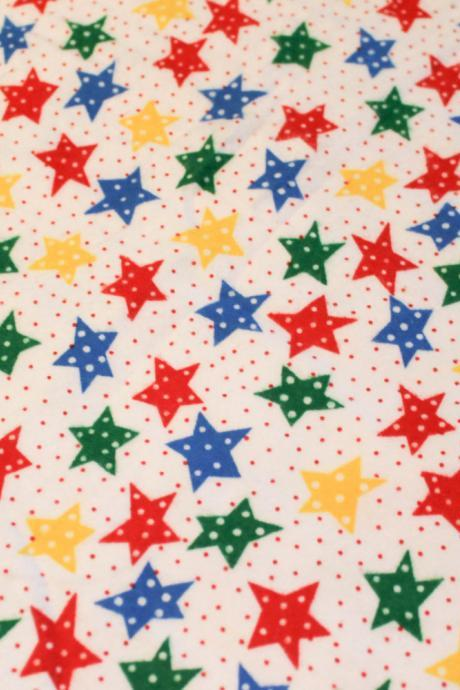 CLEARANCE Rainbow Stars Flannel Fitted Crib Sheet
