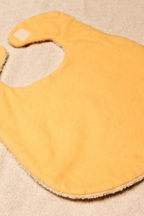 Yellow Flannel Baby Bib