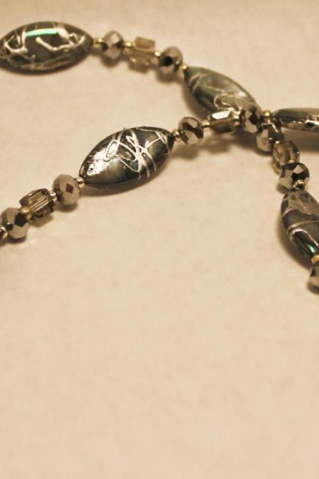 Silver Abalone Shell Necklace