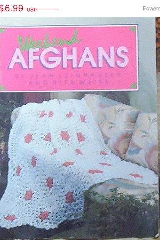 ON SALE Weekend Afghans Pattern Book by Jean Leinhauser and Rita Weiss