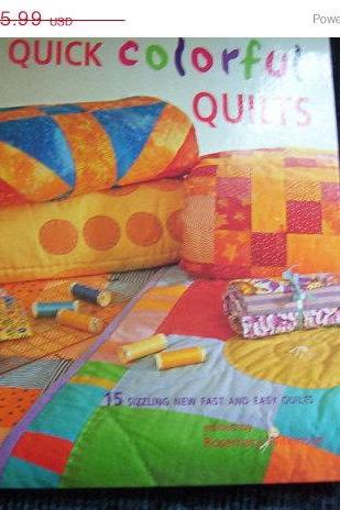 ON SALE Quick Colorful Quilts Pattern Book