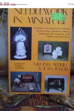 ON SALE Needlework In Miniature Book by Virginia Merrill & Jean Jessop