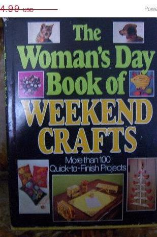 ON SALE Vintage The Woman's Day Book of Weekend Crafts Book
