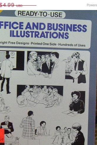 ON SALE Dover Clip Art Series Office and Business Illustrations Book